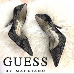 "Guess by Marciano ""Carrie"" Embroidered Black Gold"